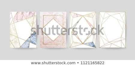 background with precious stones and geometric designs in gold Stock photo © yurkina