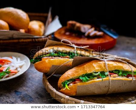Stok fotoğraf: Sandviç · ekmek · öğle · yemeği · fast-food
