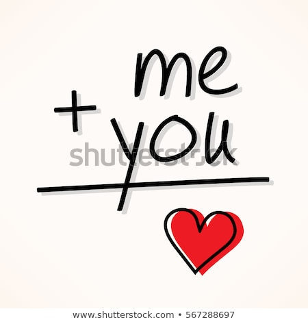 you and me - relationship concept stock photo © PixelsAway