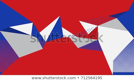 赤 · 青 · 白 · ベクトル · 抽象的な · 星 - ストックフォト © kovacevic