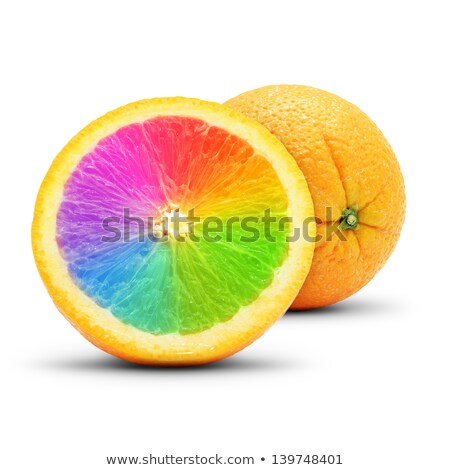 Perfect slice of orange as spectrum. Isolated on white. Stock photo © moses