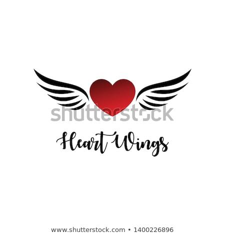 cuore · illustrazione · corona · sopra · cartoon · romance - foto d'archivio © carbouval