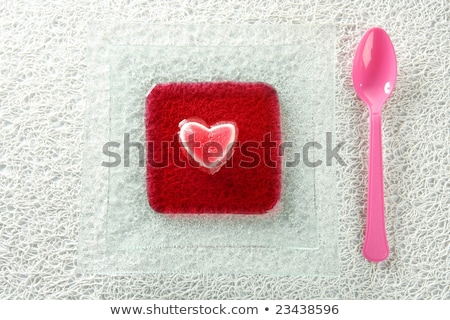Eszik zselé eper véres szív romantikus Stock fotó © lunamarina