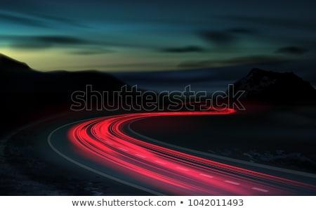 highway light trails Stock photo © ArenaCreative