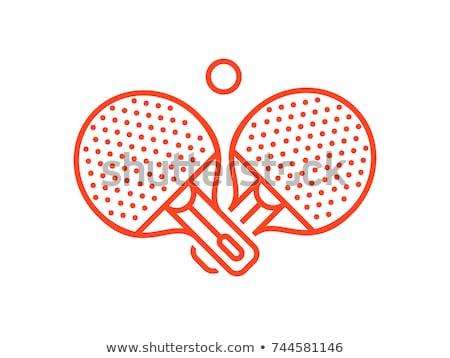 Vektör ikon ping pong spor top Stok fotoğraf © zzve