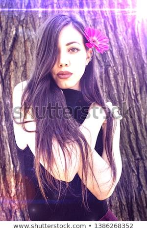Photo belle brunette fille séduisant jeune femme Photo stock © PawelSierakowski