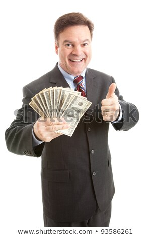 Happy man giving thumbsup sign Stock photo © stepstock