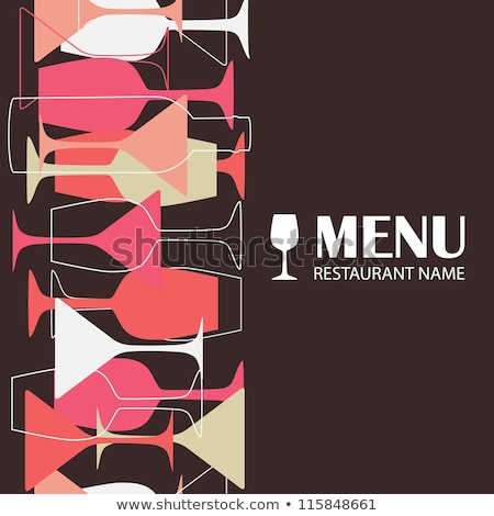 Restaurant Or Wine Bar Menu Design Seamless Vector Illustration Stock fotó © mcherevan
