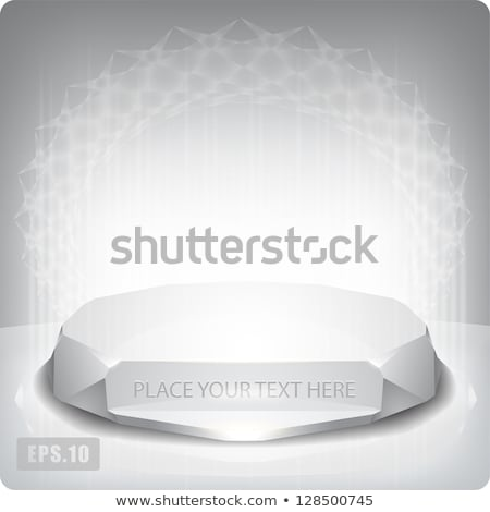 Abstract 3D crystal vector background Stock photo © VolsKinvols