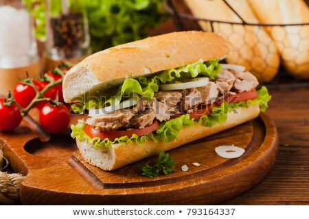 Tuna fish sandwich with tomatos and lettuce Stock photo © raphotos