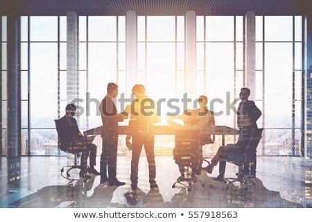 3 ª persona sesión cerebro aislado blanco negocios Foto stock © Kirill_M
