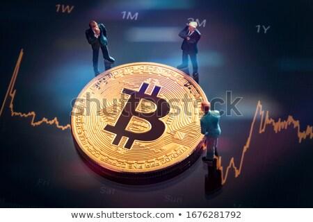 Bitcoin grafika szett különböző szimbólumok üzlet Stock fotó © mikemcd