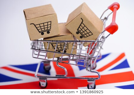 Engeland hand vrachtwagen vlag Verenigd Koninkrijk Stockfoto © tashatuvango
