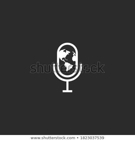Mundo notícia podcast rss feed símbolo reflexão Foto stock © make