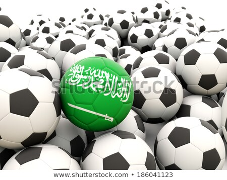 Flag of saudi arabia with football in front of it Stock photo © MikhailMishchenko