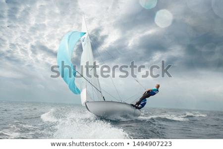 セーリング · 雲 · 海 · 空 · 水 · スポーツ - ストックフォト © trala