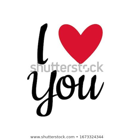 i love you - valentine card Stock photo © balasoiu