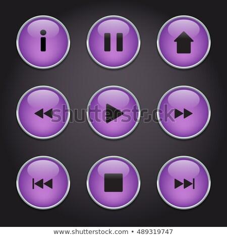 Conjunto coleção nove roxo música Foto stock © heliburcka