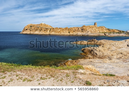 красный · пород · побережье · длительной · экспозиции · выстрел · морем - Сток-фото © joningall