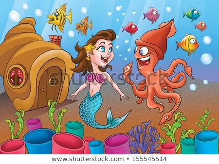 weinig · zeemeermin · meisje · natuur · zee · schoonheid - stockfoto © littlelion