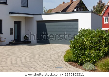 Countryside house. Garage with driveway Stock photo © iriana88w