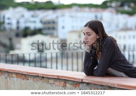 nő · könnyek · szem · néhány · akasztás · szempilla - stock fotó © adrenalina