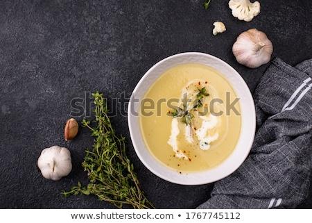 Karfiol krém leves étel hal otthon Stock fotó © Dar1930