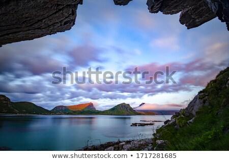 吊り橋 · 山 · 川 · ノルウェー · 美しい · 自然 - ストックフォト © nejron