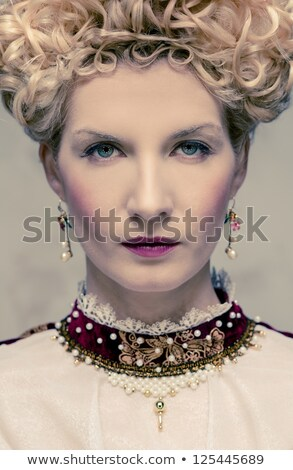 Portrait of beautiful haughty queen in royal dress Stock photo © Nejron