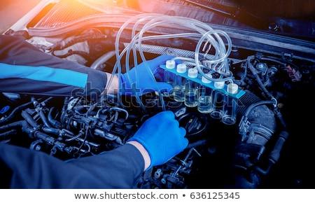 Yakıt enjeksiyon bakır motor araba araba Stok fotoğraf © nelsonart