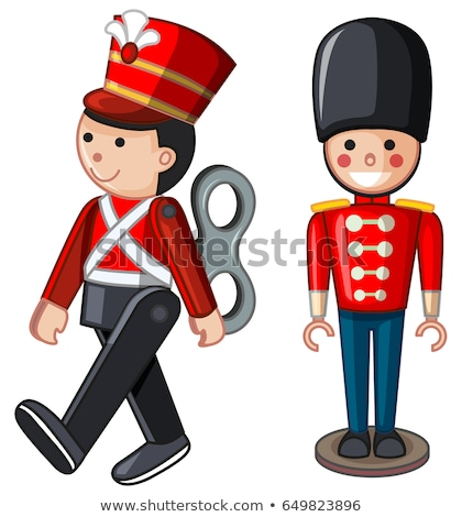 toy soldiers on white background stock photo © mps197