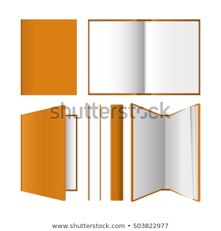 Open book front page paperback isolated Stock photo © orensila