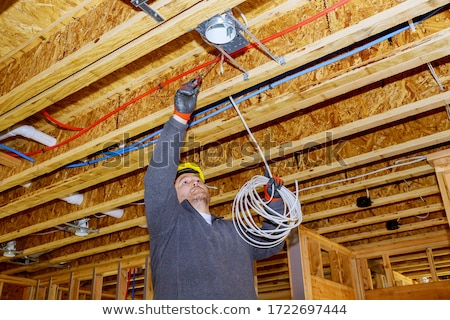 Eléctrica cuadro madera metal verde forestales Foto stock © vavlt