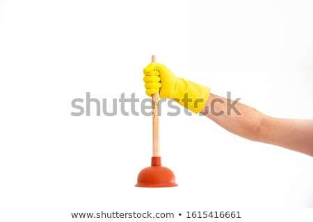 clean plunger isolated stock photo © michaklootwijk