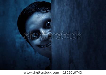 Vámpír fal sátáni stílus festett szöveg Stock fotó © tony4urban