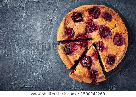 Sliced plums Stock photo © yelenayemchuk