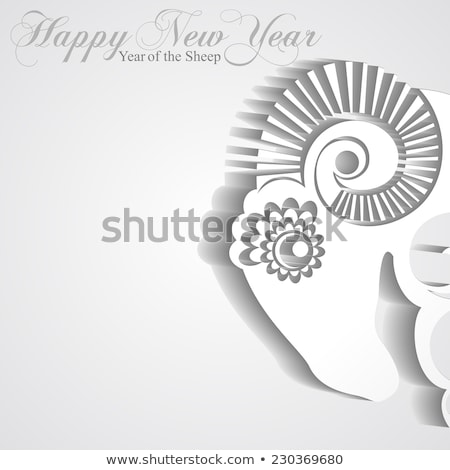 Fehér játék birka papír új év terv Stock fotó © dariazu