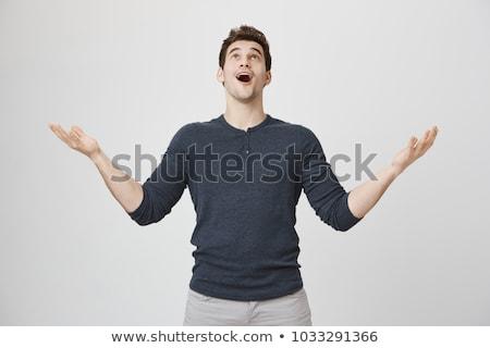 Portrait of a man looking up stock photo © gemenacom