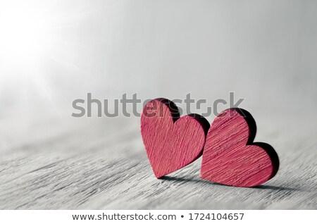 Amor assinar coração madeira foto detalhes Foto stock © Dermot68
