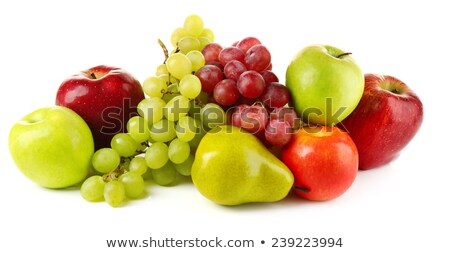 Stock photo: Grapes Pears and Apples
