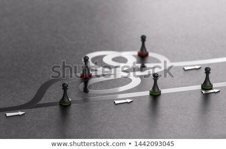 Direção negócio desvio decisão símbolo empresário Foto stock © Lightsource