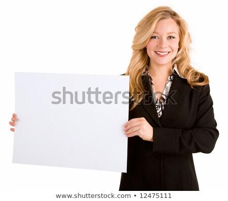 Blond dames vide bord Photo stock © majdansky
