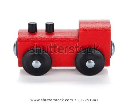 Stock photo: Small red train