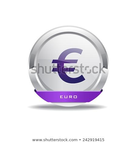 Euro valuta felirat körkörös vektor lila Stock fotó © rizwanali3d