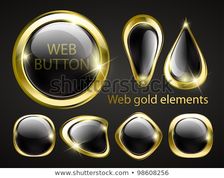 Baixar dourado vetor ícone web conjunto botão Foto stock © rizwanali3d