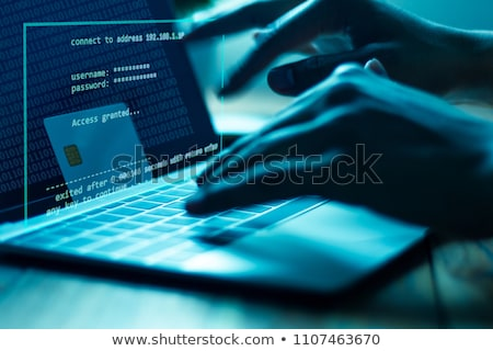 Criminal Using Laptop To Steal Data stock photo © AndreyPopov