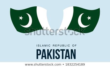Térkép zászló gomb iszlám köztársaság Pakisztán Stock fotó © Istanbul2009