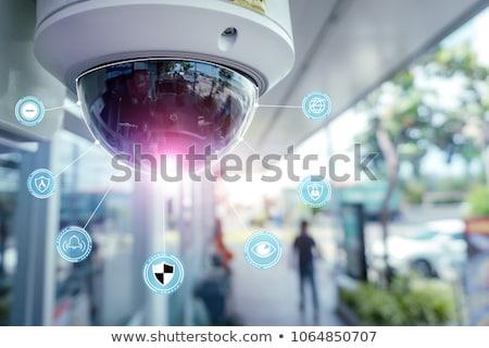 Videó megfigyelés nagy fivér néz biztonsági kamera Stock fotó © Lightsource