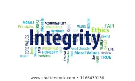 Morality word cloud Stock photo © tang90246