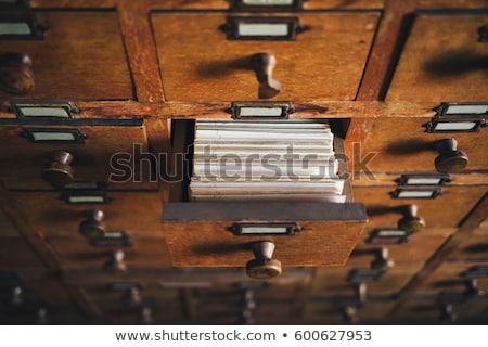 Otwarte pola starych archiwum biblioteki karty Zdjęcia stock © Valeriy